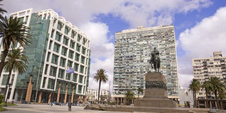 Independence Square. Uruguay Stock Photos