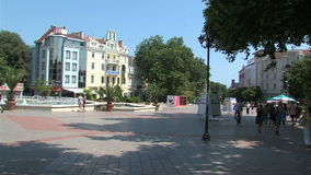 Independence Square in Varna, Bulgaria stock video footage