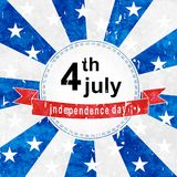 Independence sticker Royalty Free Stock Images