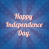 Independence text Stock Photography