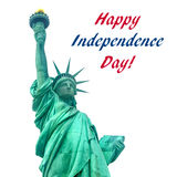 Independence USA  background with Statue of Liberty Stock Photos