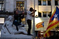 Independencia Cataluña 20/09/2017 de la demostración Fotos de archivo