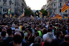 Independencia Cataluña 20/09/2017 de la demostración Imagen de archivo libre de regalías
