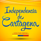Independencia de Cartagena - Cartagena independence Day spanish text Stock Photos