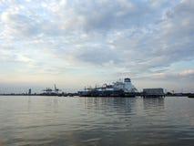 Independencia de la nave en el puerto de Klaipeda, Lituania fotos de archivo libres de regalías