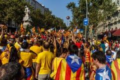 Independencia de manifestación de la gente para Calatonia Fotos de archivo libres de regalías