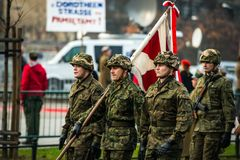 Independencia de Polonia Foto de archivo libre de regalías