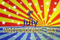 Independencia el 4 de julio Imagenes de archivo