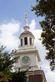 Independencia Hall Clock Tower Imagen de archivo libre de regalías