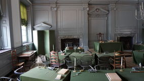 Independencia Pasillo en Philadelphia Imágenes de archivo libres de regalías
