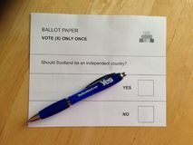 Independencia referéndum 18 de septiembre de 2014 escocés Imagen de archivo