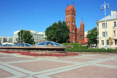 Independency Square in Minsk Stock Images