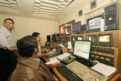An independent Iraqi television station, Cario Stock Photo