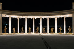 Independent Macedonia colonnade in Skopje Royalty Free Stock Image