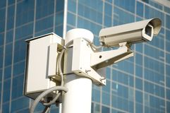 Independent security cameras Stock Photo