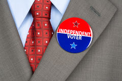 Independent voter pin Stock Photography