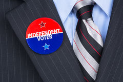 Independent voter pin Royalty Free Stock Image