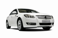 A Independent white static car in white background Stock Photos