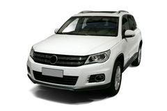 A Independent white static suv in white background Stock Photography