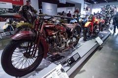 Inder-Ace-Motorrad des Rot-1927 Lizenzfreie Stockbilder