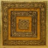 Inder/Arabesken-Metallhintergrund - goldene Farbe Lizenzfreie Stockfotografie