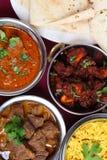 Inder curries von oben Stockbild