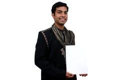 Inder in der traditionellen Kleidung. Stockfoto