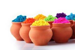 Inder Holi-Festivalfarben stockfotos