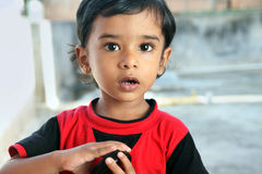 Inder Little Boy Stockbild