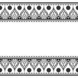 Inder, Mehndi-Hennastrauchlinie Spitzeelement mit Kreismusterkarte für Tätowierung auf weißem Hintergrund Lizenzfreie Stockfotografie