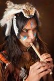 Inder mit Flöte Lizenzfreies Stockbild