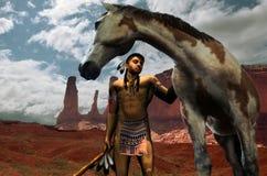 Inder und Pferd Lizenzfreie Stockbilder