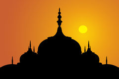 Inder wölbt sich Sonnenuntergang Stockbilder
