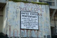 Inder-Willkommensschild, Alcatraz Lizenzfreies Stockfoto