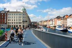 Inderhavnsbroen桥梁在哥本哈根-丹麦 库存照片