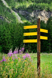 Index areas of destinations in the Alpine mountains Royalty Free Stock Photography
