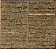Index auf Sagrada familia Stockbild