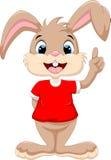 Index augmenté par lapin mignon illustration libre de droits