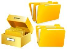 Index Card Folder Stock Photography