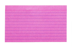 Index Card 3 Royalty Free Stock Photography