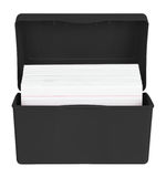 Index Cards in box Stock Photo