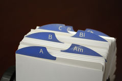 Index Cards for Business Communications for Clients Royalty Free Stock Image