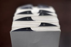 Index Cards for Business School Home Organization Royalty Free Stock Photo