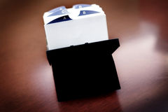 Index Cards for Business School Home Organization stock photos