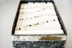 Index Cards for Business School Home Organization Stock Image
