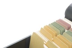 Index Cards - Isolated with Copy Space Royalty Free Stock Photo