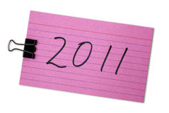 Index cards with the number 2011 Stock Photos