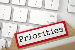 Index de dossier avec des priorités 3d Images libres de droits