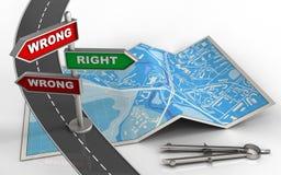 index de la direction 3d Images libres de droits