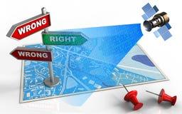 index de la direction 3d Image libre de droits